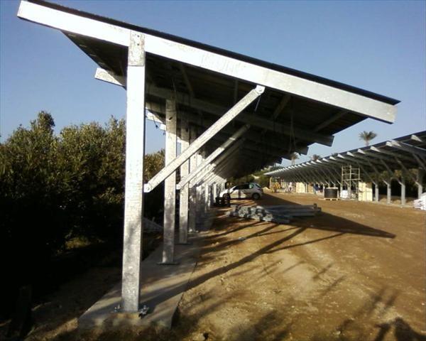 Pensilina Fotovoltaica installata in Sicilia