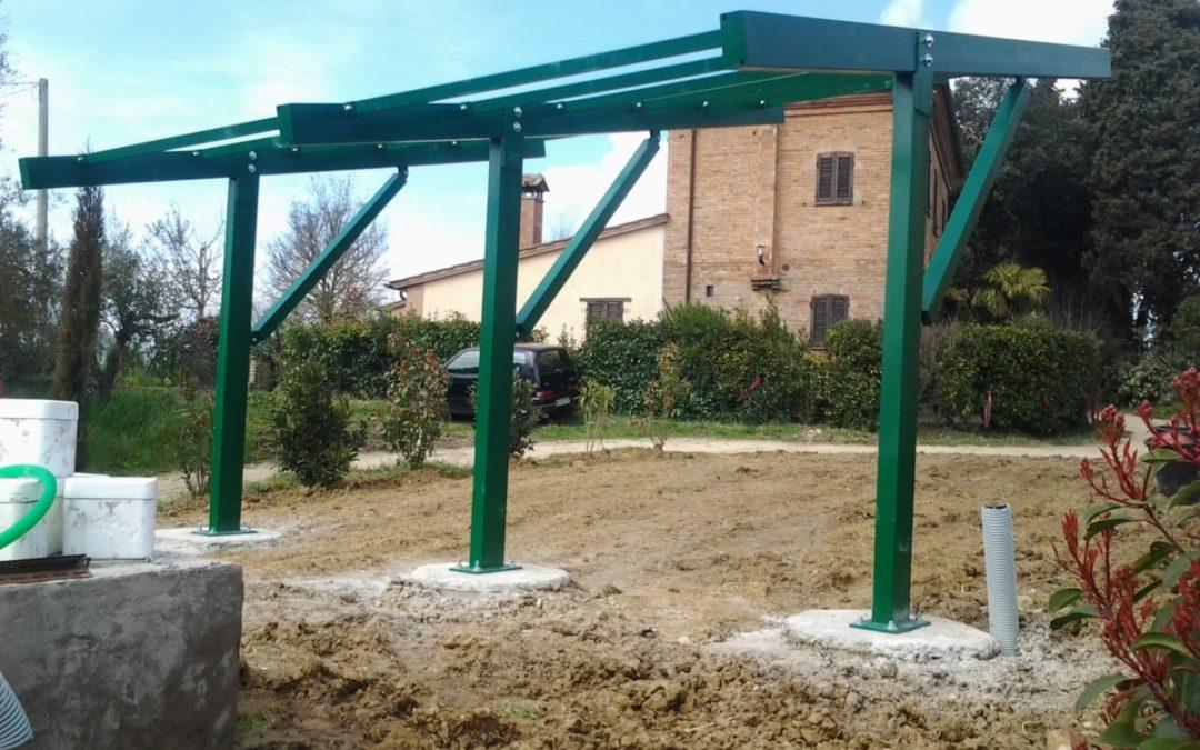 Fotovoltaica a sbalzo verniciata installata Perugia