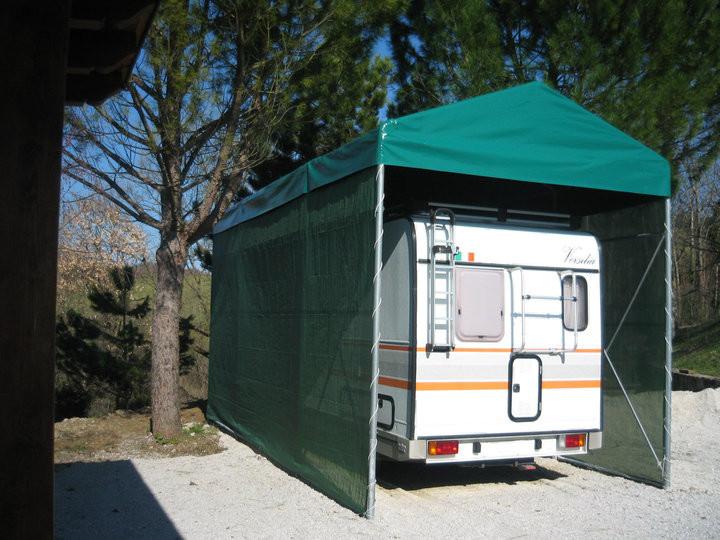 copertura camper a casetta installata a Umbertide