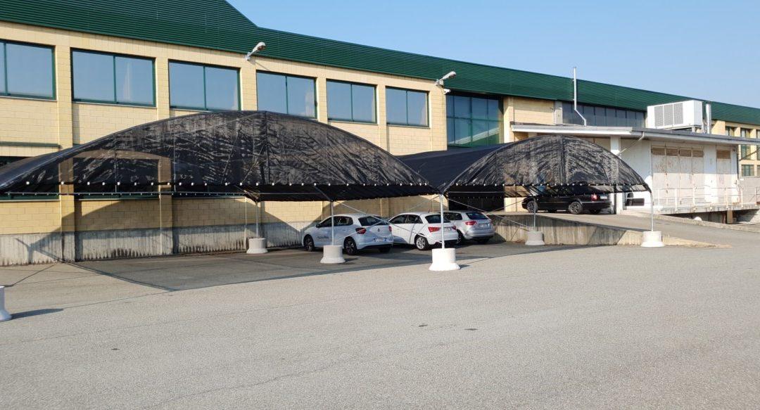 struttura antigrandine installata a Torino